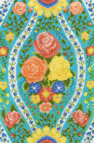DMC Flowered Forms -Rose Fantasy Cross Stitch Kit BK1643
